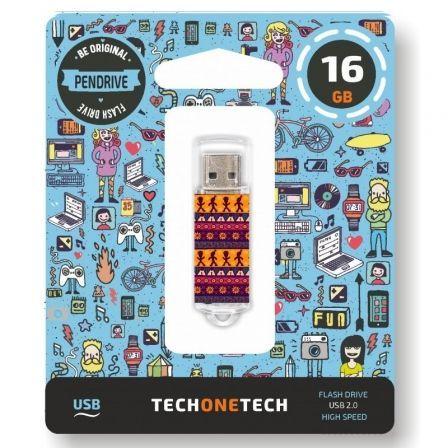 Pendrive 16GB Tech One Tech Tribal Questions USB 2.0