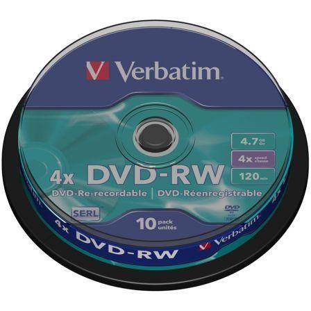 Verbatim DataLifePlus - DVD-RW x 10 - 4.7 GB - soportes de almacenamiento