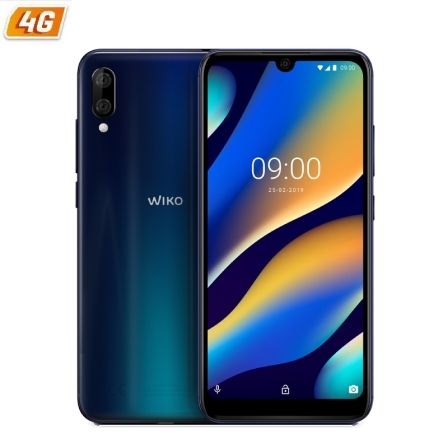 SMARTPHONE MÓVIL WIKO VIEW 3 LITE BLUE - 6.09'/15.4CM HD+ - OC 1.6GHZ - 2GB - 32GB - CÁMARA (13+2)/5MP - 4G - DUAL SIM - ANDROID 9 - 4000MAH