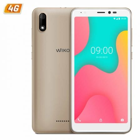 SMARTPHONE MÓVIL WIKO Y60 GOLD - 5.45'/13.8CM FWVGA+ - QC 1.3GHZ CORTEX A53 - 1GB - 16GB - CÁMARA 5/5MP - 4G - ANDROID 9 - BT - GPS - BAT2500MAH