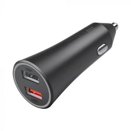 CARGADOR DE COCHE XIAOMI MI CAR CHARGER 37W - 2*USB - 5V / 2A - USB 2 5V/3A  9V/3A 12V/2.25A 20V/1.35A - INPUT 12/24V