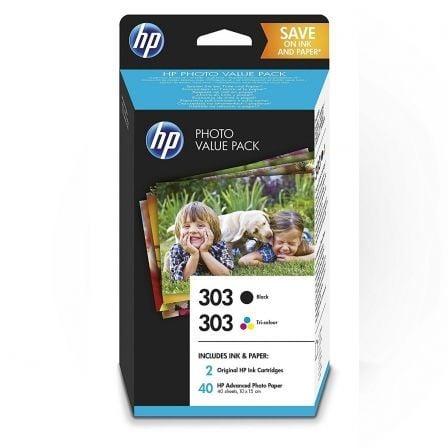 Cartucho de Tinta Original HP nº303 Multipack/ Negro/ Tricolor más Papel Fotográfico